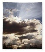 Sunlight And Stormy Skies Fleece Blanket