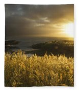 Sunlight Glowing At Sunset And Fleece Blanket