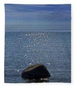 Sunlight Sparkling On The Water At Sturgeon Point Fleece Blanket