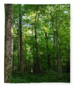 Sunlit Forest Fleece Blanket
