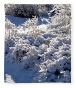 Sunlit Snowy Sanctuary Fleece Blanket