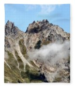 Sunny Mountain Afternoon Fleece Blanket