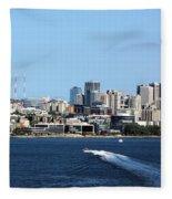 Sunny Seattle Fleece Blanket