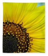 Sunny Summer Sunflower Fleece Blanket