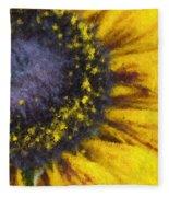 Sunny Yellow Fleece Blanket