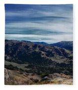 Sunol-flag Hill Fleece Blanket