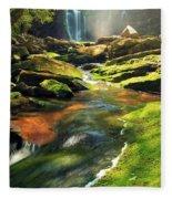 Sunrise At Elakala Falls Fleece Blanket