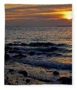 Sunrise At Mt Loretto Beach Fleece Blanket