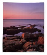 Sunrise At Otter Point Fleece Blanket