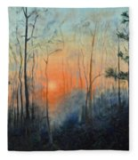 Sunrise At Pike Road Fleece Blanket