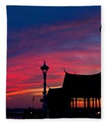 Sunrise At Sisowath Quay. Fleece Blanket