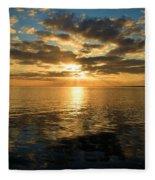Sunrise At The Banks Fleece Blanket