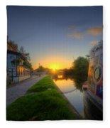 Sunrise At The Boat Inn Fleece Blanket