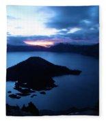 Sunrise At The Crater Fleece Blanket