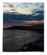 Sunrise At The Edge Fleece Blanket
