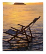 Sunrise Beach Lounging Fleece Blanket