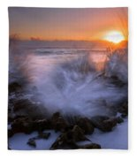 Sunrise Explosion Fleece Blanket