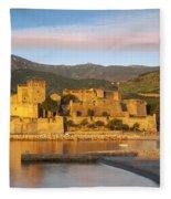 Sunrise In Collioure Fleece Blanket