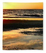 Sunrise In Jekyll Island Fleece Blanket