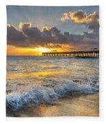 Sunrise Lights Fleece Blanket
