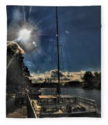 Sunrise Moon Dance Fleece Blanket