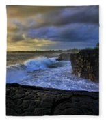 Sunrise Near Hilo Hawaii Fleece Blanket