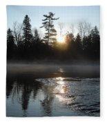 Sunrise On Ice Fleece Blanket