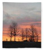 Sunrise On The Hill Fleece Blanket