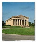 Sunrise On The Parthenon Fleece Blanket