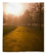 Sunrise Over Country Road, Oregon Fleece Blanket