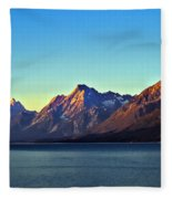 Sunrise Over Jackson Lake Fleece Blanket