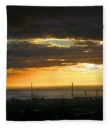 Sunrise Over Kessock Fleece Blanket