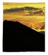 Sunrise Over Maui Fleece Blanket