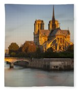 Sunrise Over Notre Dame Fleece Blanket