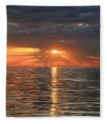 Sunrise Over Ripples Fleece Blanket