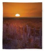 Sunrise Over The Pampa Of Argentina San Fleece Blanket
