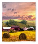 Sunrise Pastures Fleece Blanket