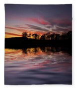 Sunset Reflection Fleece Blanket