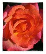 Sunrise Rose Fleece Blanket