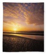 Sunrise, Sandymount Strand Dun Fleece Blanket