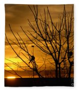 Sunrise Song Fleece Blanket