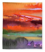 Sunset 04 Fleece Blanket
