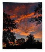 Sunset 07 26 12 Two Fleece Blanket