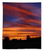 Sunset 2   09 22 12 Fleece Blanket