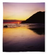 Sunset And Sea Fleece Blanket