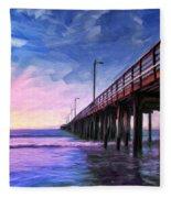Sunset At Avila Beach Fleece Blanket
