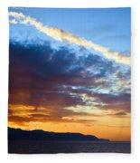 Sunset At Costa Del Sol Fleece Blanket