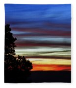 Sunset At Desert View Along The Grand Canyon Fleece Blanket