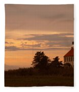 Sunset At East Point Light  Fleece Blanket