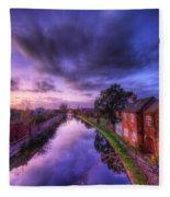 Sunset At Loughborough Fleece Blanket